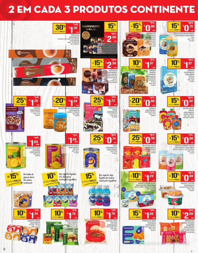 Folheto Continente Tudo aos preços mais baixos - Continente Bom dia - 13 de Agosto a 19 de Agosto - página 8