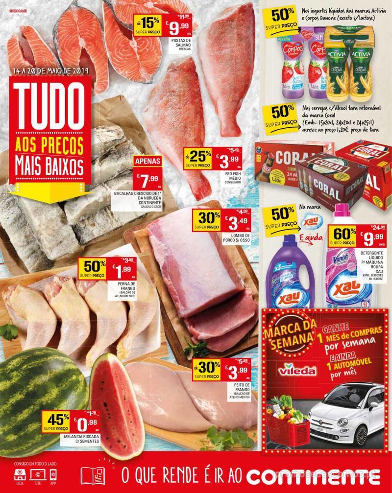 Folheto Continente Tudo aos preços mais baixos - Madeira - 14 de Maio a 20 de Maio - página 1