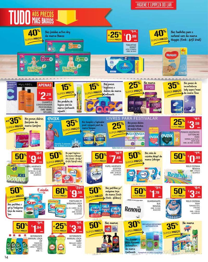 Folheto Continente Tudo aos preços mais baixos - Madeira - 14 de Maio a 20 de Maio - página 14