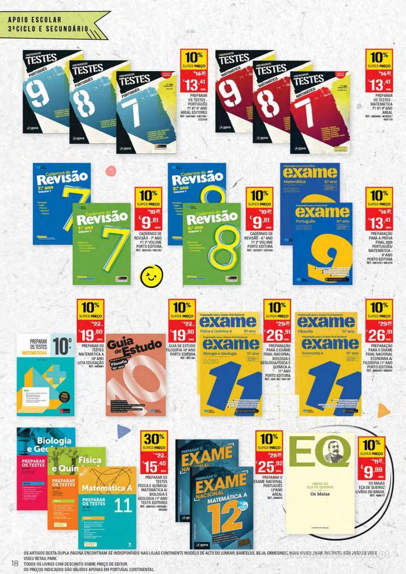 Folheto Continente Regresso às Aulas - 13 de Agosto a 18 de Setembro - página 18
