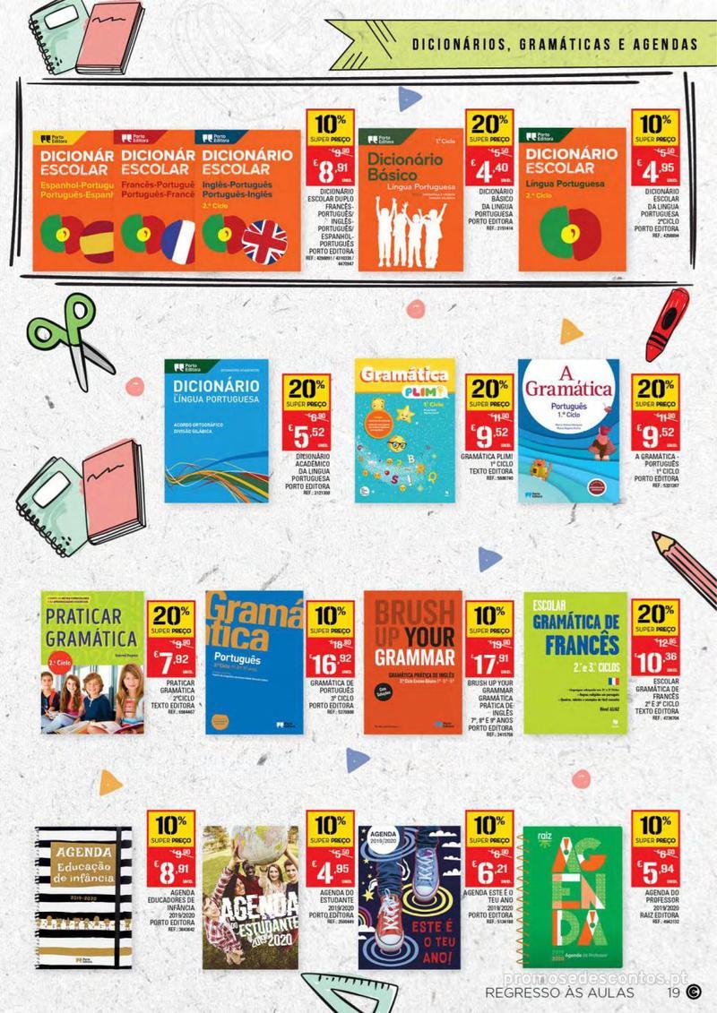 Folheto Continente Regresso às Aulas - 13 de Agosto a 18 de Setembro - página 19