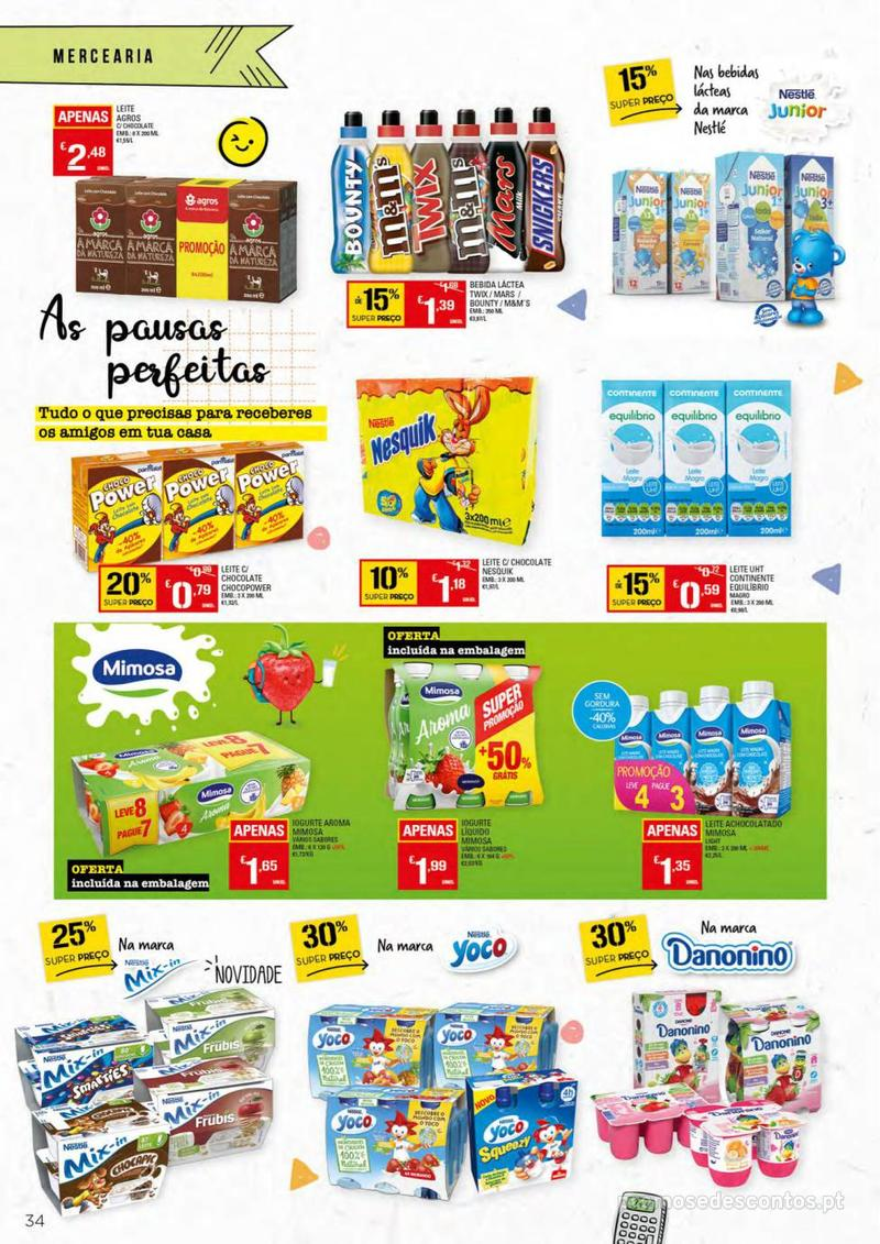 Folheto Continente Regresso às Aulas - 13 de Agosto a 18 de Setembro - página 34
