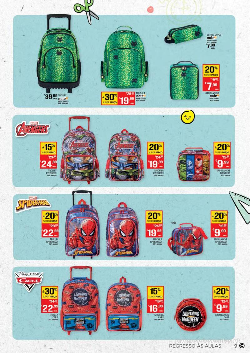Folheto Continente Regresso às Aulas - 13 de Agosto a 18 de Setembro - página 9