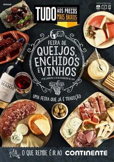 Feira de queijos, enchidos e vinhos - Continente Bom dia - 29 de Janeiro a 25 de Fevereiro