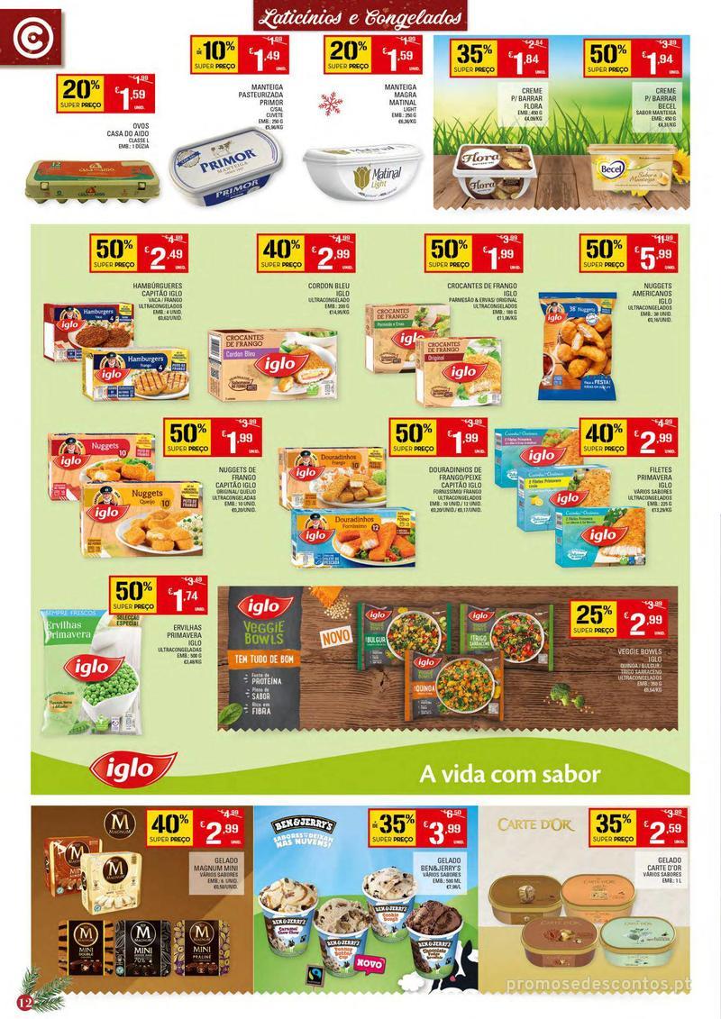 Folheto Continente Tudo aos preços mais baixos - Continente Bom dia - 4 de Dezembro a 10 de Dezembro - página 12