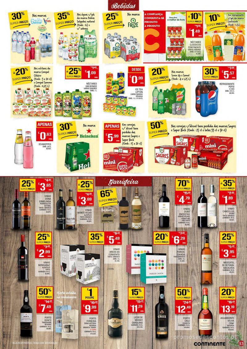 Folheto Continente Tudo aos preços mais baixos - Continente Bom dia - 4 de Dezembro a 10 de Dezembro - página 13