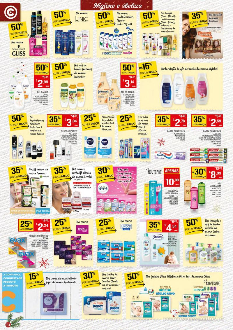 Folheto Continente Tudo aos preços mais baixos - Continente Bom dia - 4 de Dezembro a 10 de Dezembro - página 14