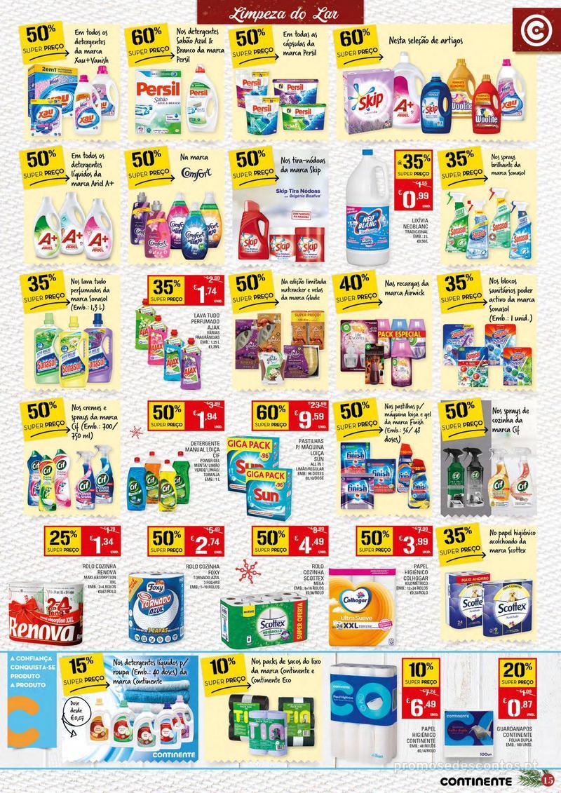 Folheto Continente Tudo aos preços mais baixos - Continente Bom dia - 4 de Dezembro a 10 de Dezembro - página 15