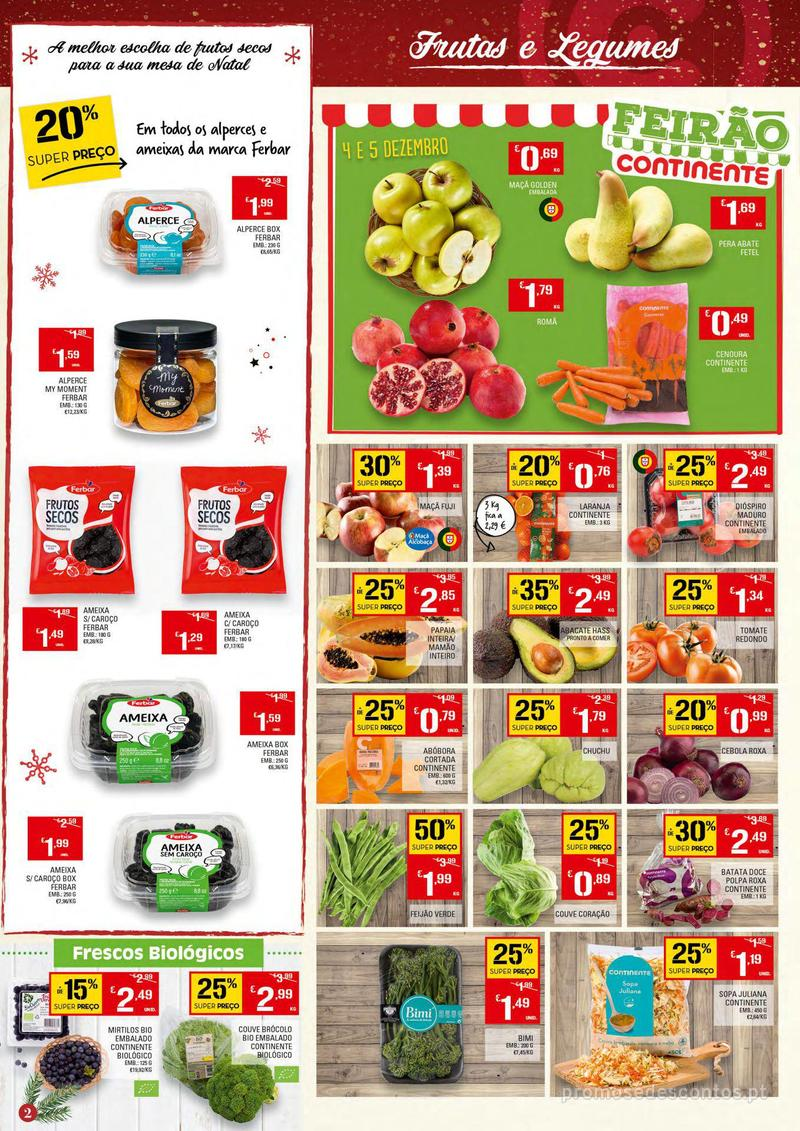 Folheto Continente Tudo aos preços mais baixos - Continente Bom dia - 4 de Dezembro a 10 de Dezembro - página 2