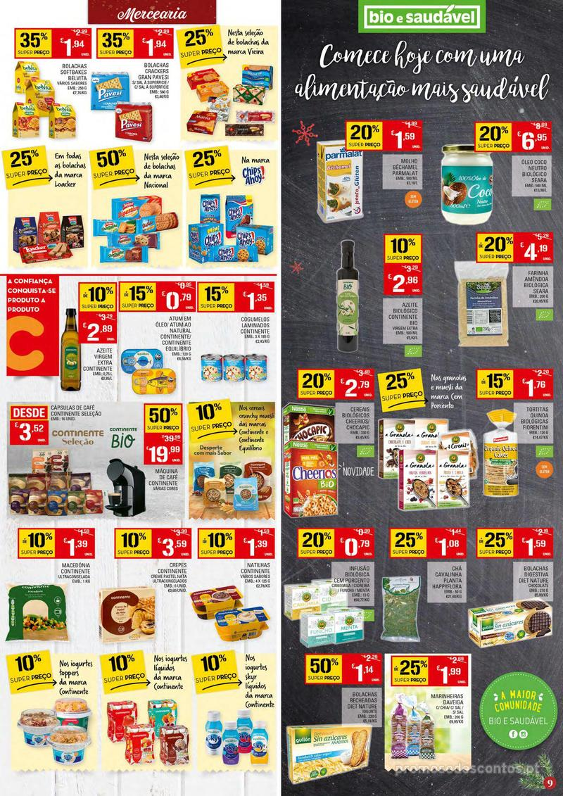 Folheto Continente Tudo aos preços mais baixos - Continente Bom dia - 4 de Dezembro a 10 de Dezembro - página 9