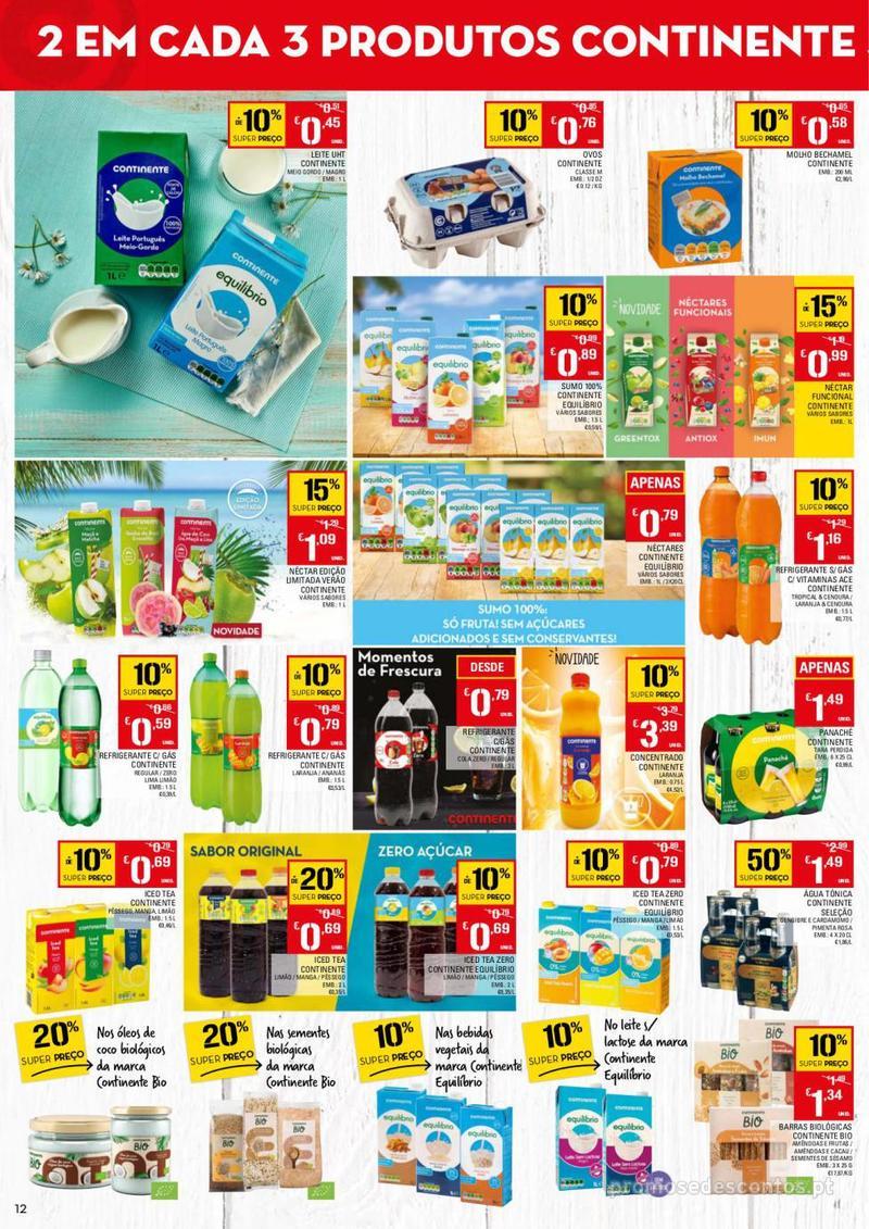 Folheto Continente Tudo aos preços mais baixos - 13 de Agosto a 19 de Agosto - página 12