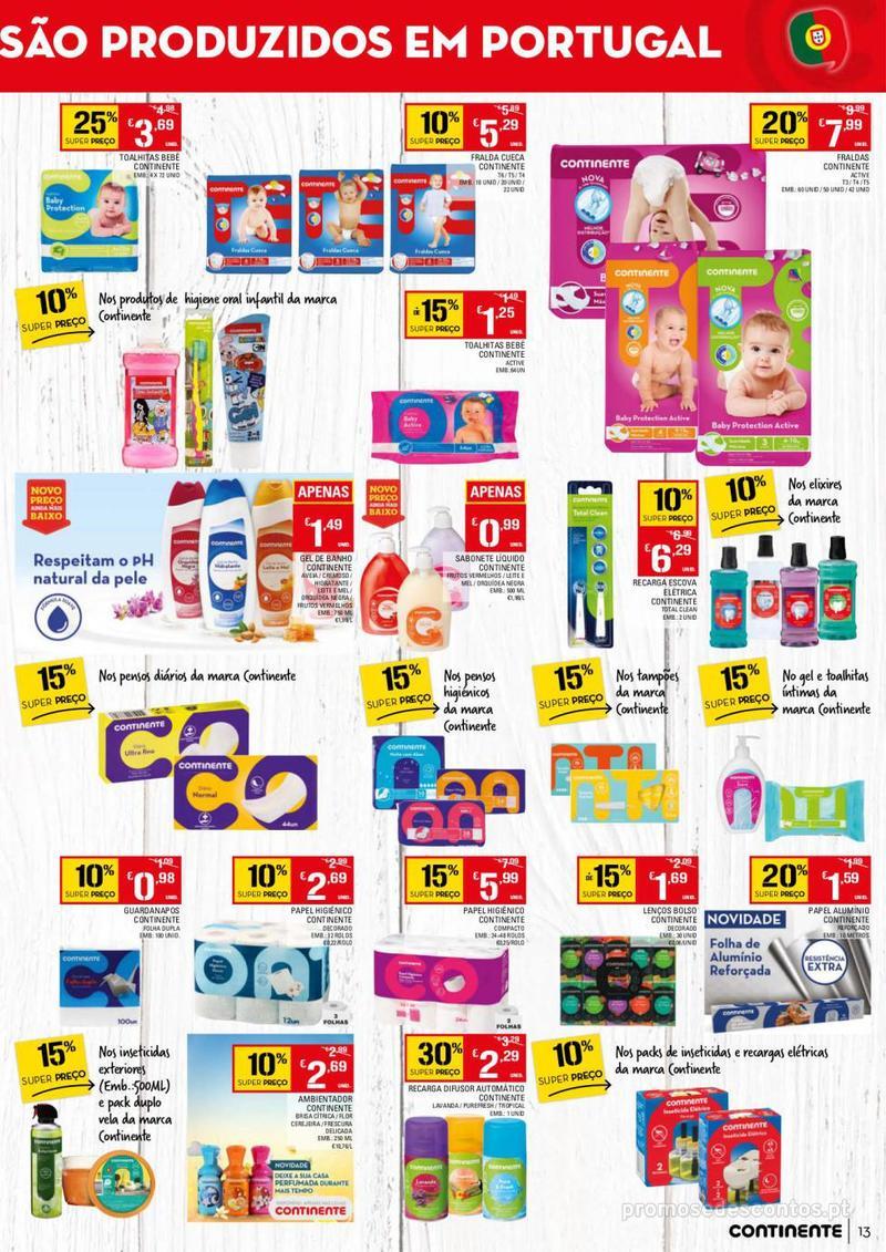 Folheto Continente Tudo aos preços mais baixos - 13 de Agosto a 19 de Agosto - página 13