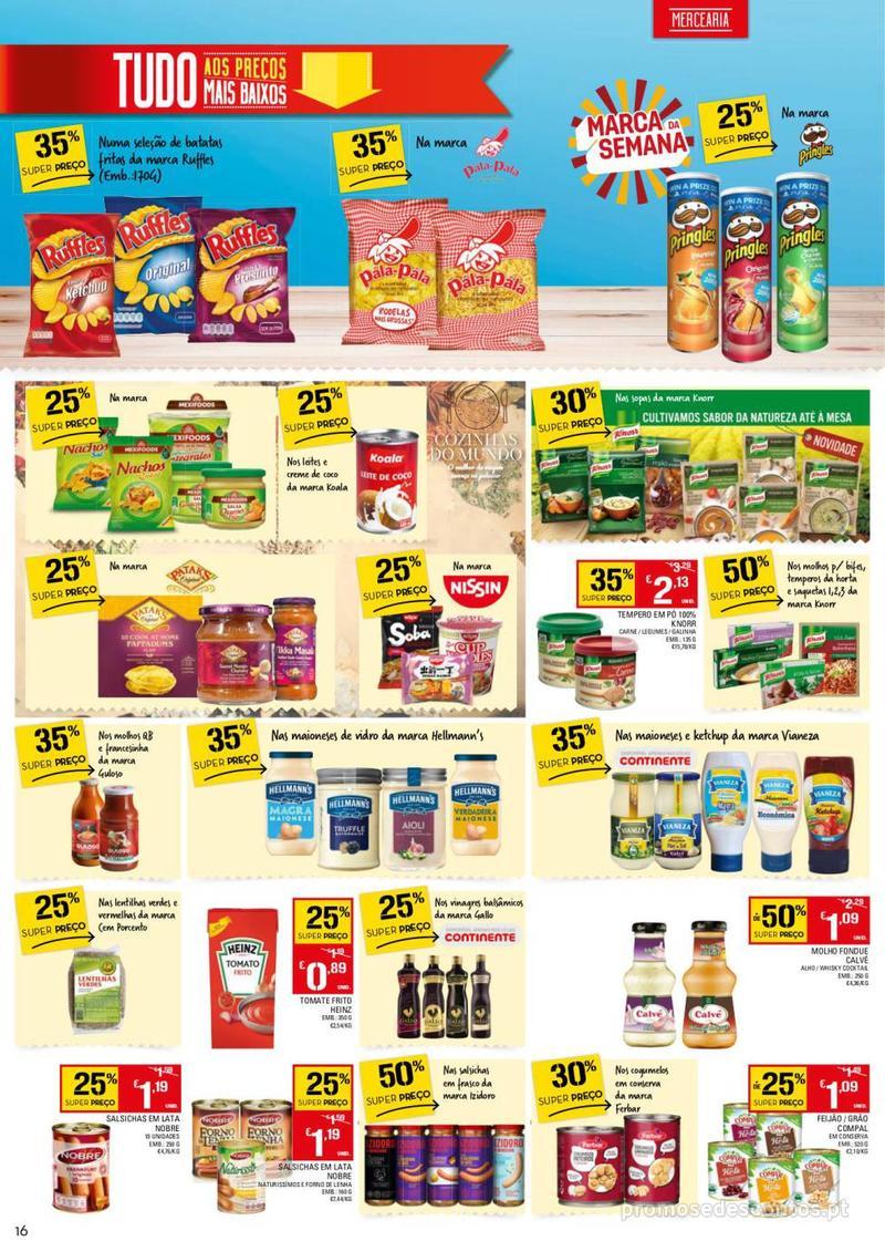 Folheto Continente Tudo aos preços mais baixos - 13 de Agosto a 19 de Agosto - página 16