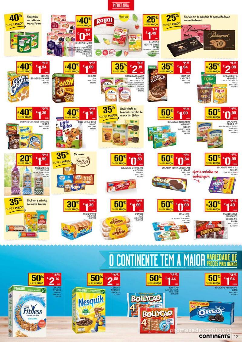 Folheto Continente Tudo aos preços mais baixos - 13 de Agosto a 19 de Agosto - página 19