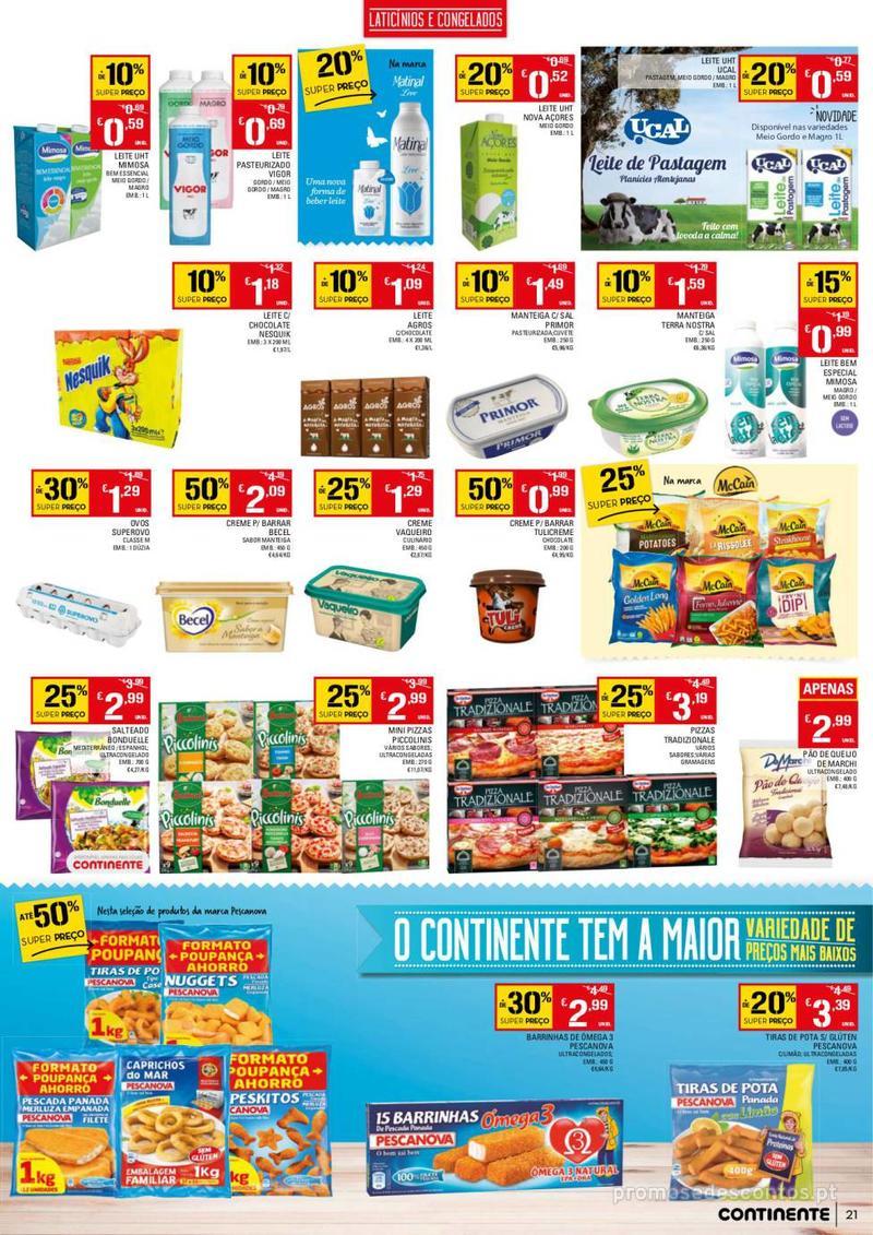 Folheto Continente Tudo aos preços mais baixos - 13 de Agosto a 19 de Agosto - página 21