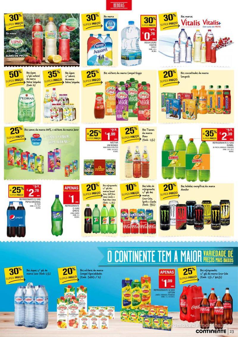 Folheto Continente Tudo aos preços mais baixos - 13 de Agosto a 19 de Agosto - página 23