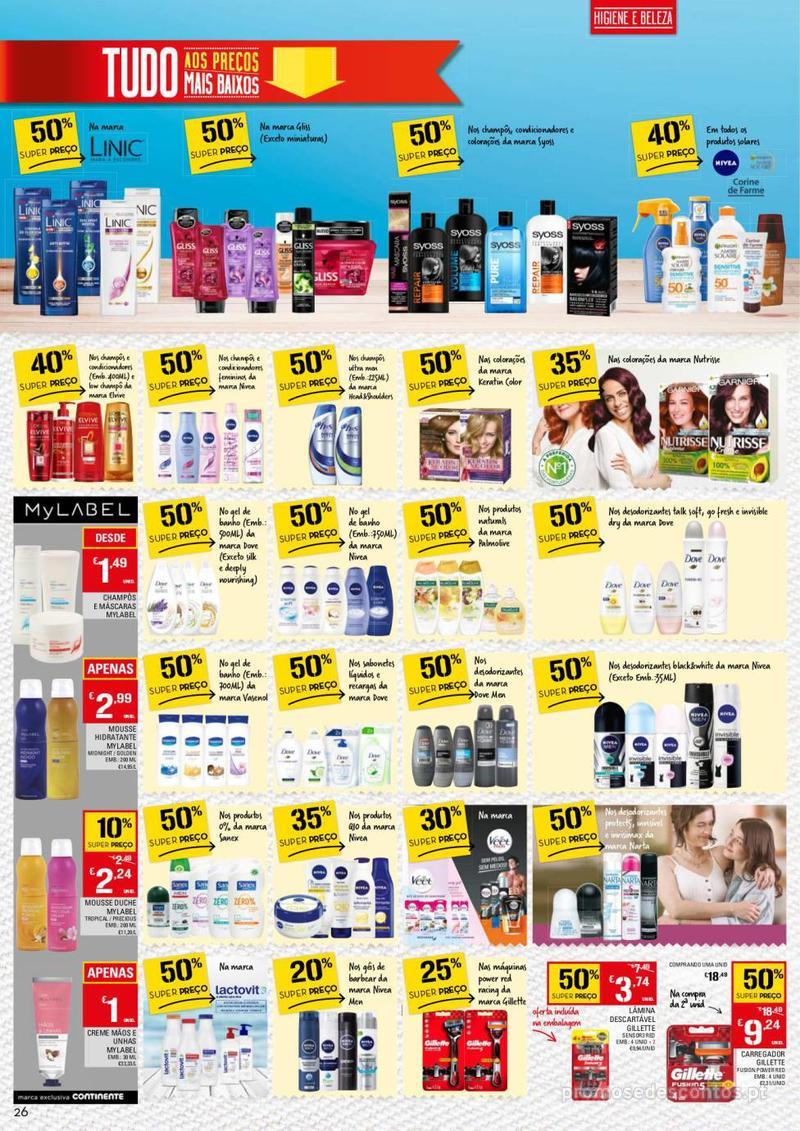 Folheto Continente Tudo aos preços mais baixos - 13 de Agosto a 19 de Agosto - página 26