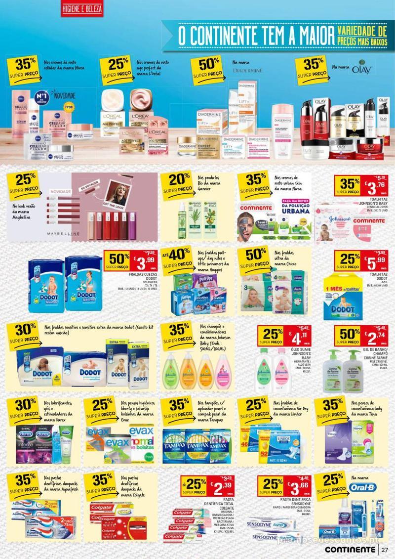 Folheto Continente Tudo aos preços mais baixos - 13 de Agosto a 19 de Agosto - página 27