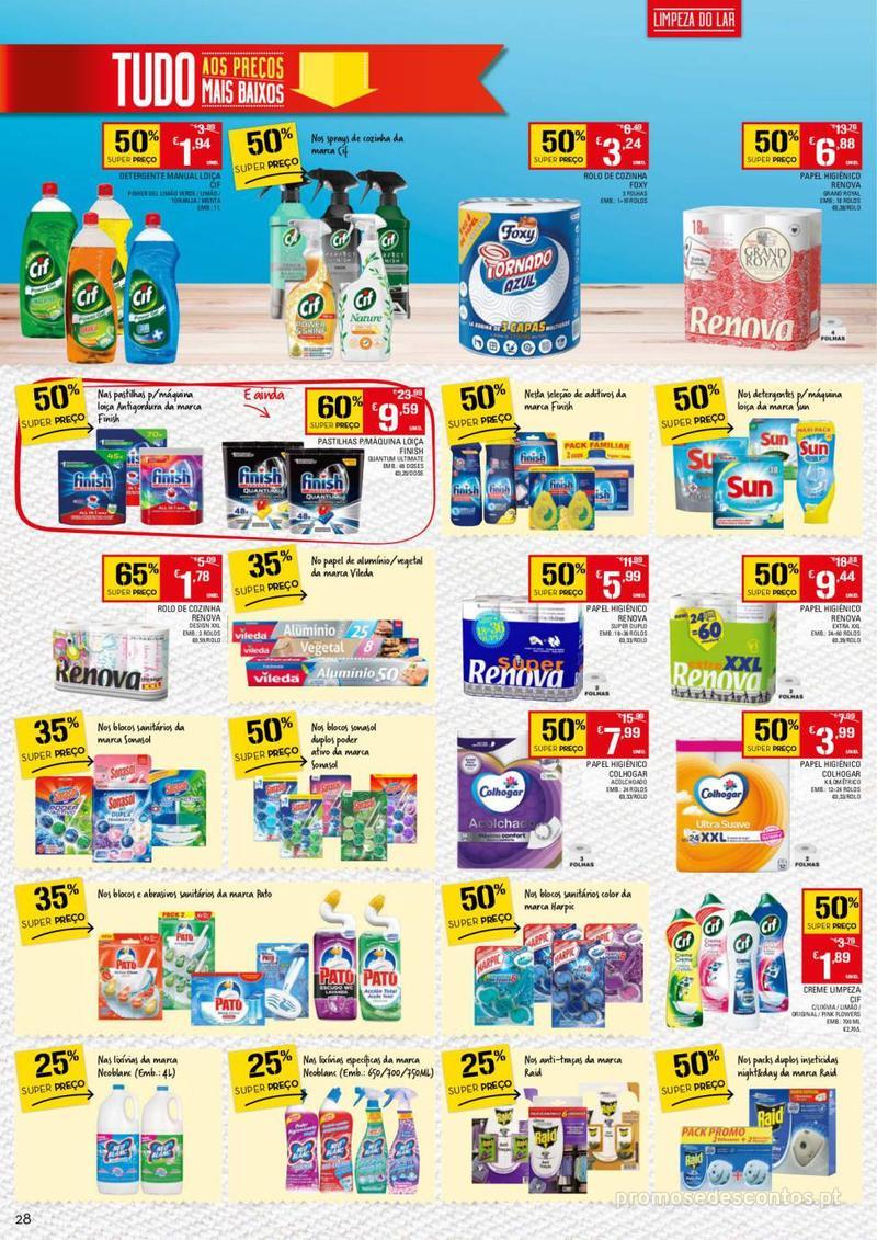 Folheto Continente Tudo aos preços mais baixos - 13 de Agosto a 19 de Agosto - página 28