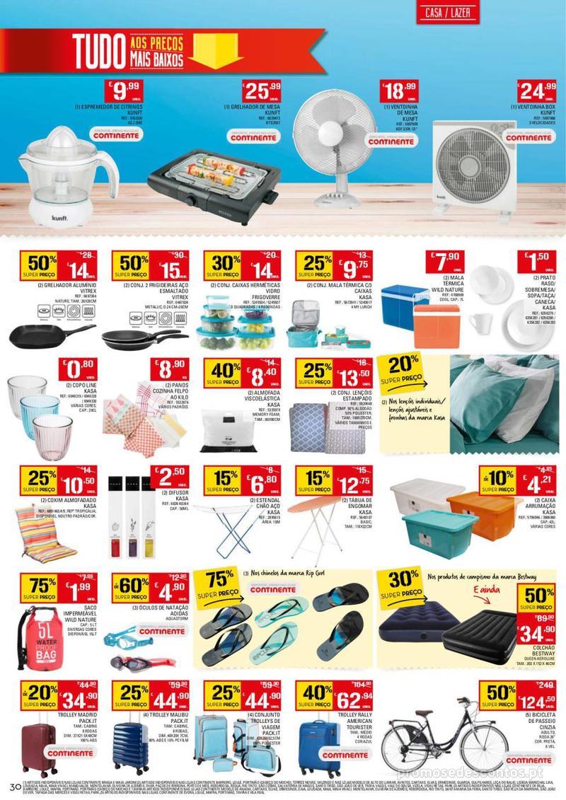 Folheto Continente Tudo aos preços mais baixos - 13 de Agosto a 19 de Agosto - página 30