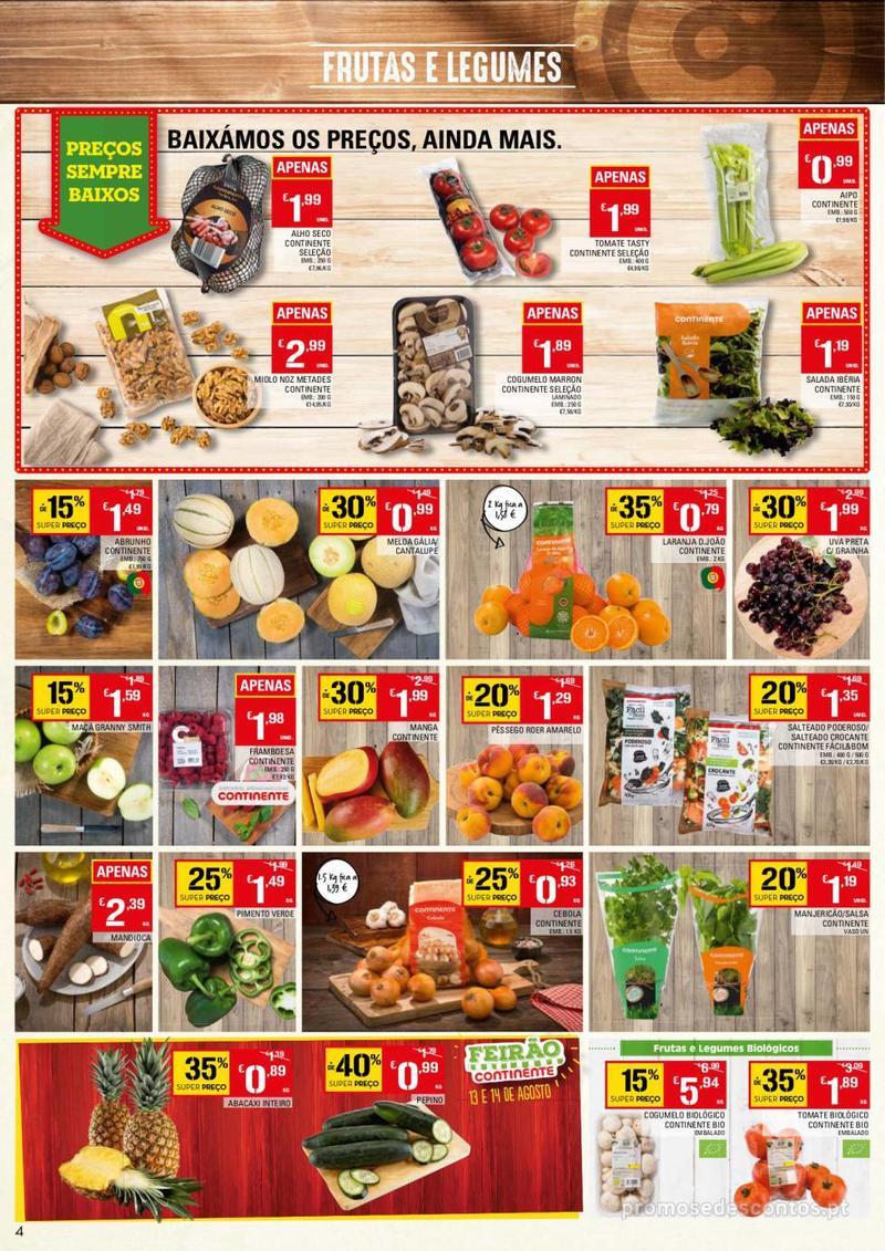 Folheto Continente Tudo aos preços mais baixos - 13 de Agosto a 19 de Agosto - página 4