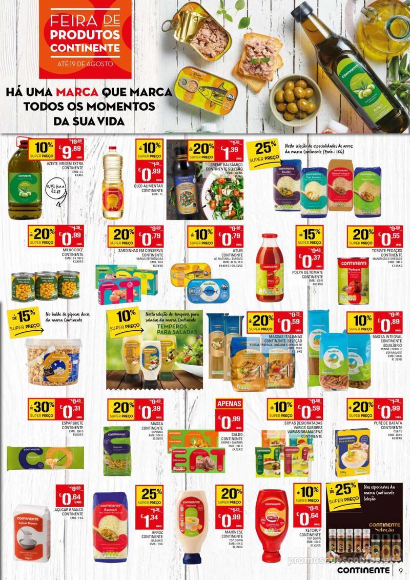 Folheto Continente Tudo aos preços mais baixos - 13 de Agosto a 19 de Agosto - página 9