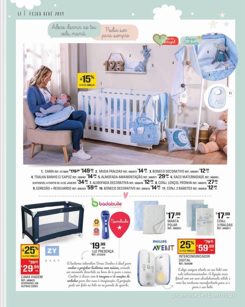 Folheto Continente Feira do Bebé - 7 de Janeiro a 28 de Janeiro - página 12