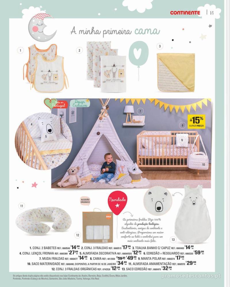 Folheto Continente Feira do Bebé - 7 de Janeiro a 28 de Janeiro - página 13