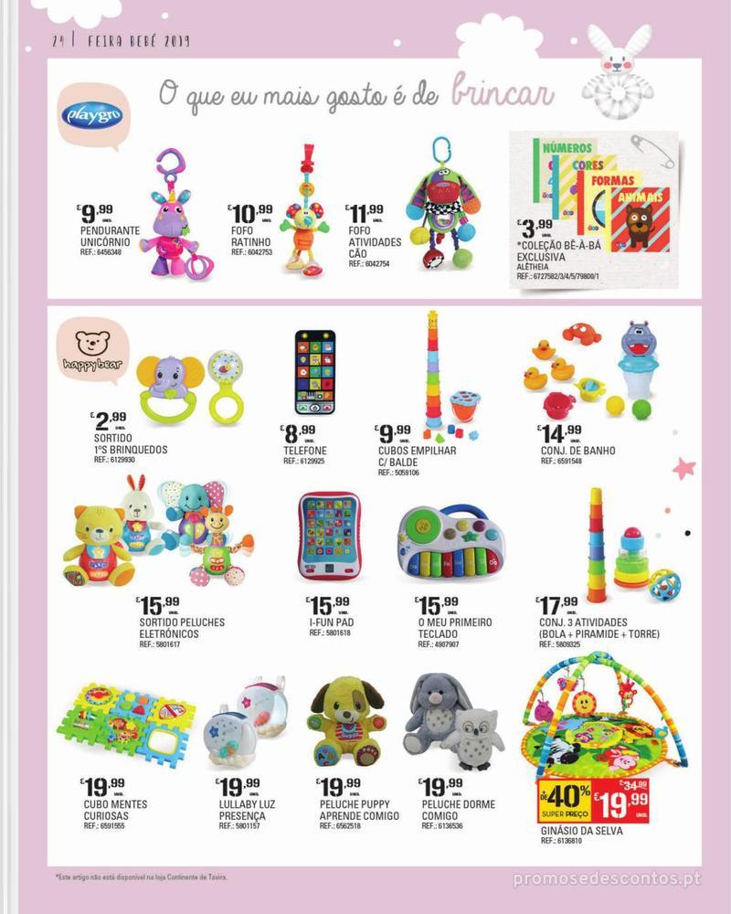 Folheto Continente Feira do Bebé - 7 de Janeiro a 28 de Janeiro - página 24