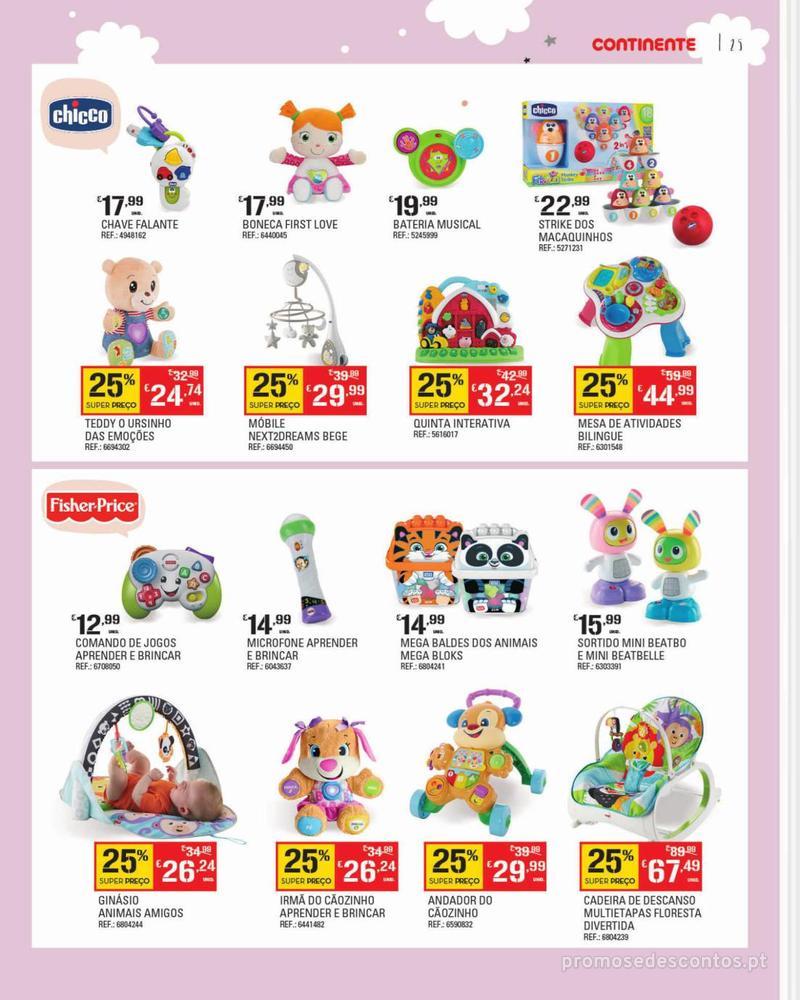 Folheto Continente Feira do Bebé - 7 de Janeiro a 28 de Janeiro - página 25