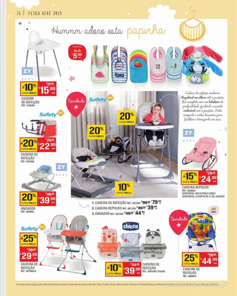 Folheto Continente Feira do Bebé - 7 de Janeiro a 28 de Janeiro - página 26