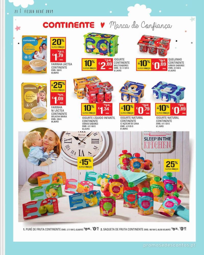 Folheto Continente Feira do Bebé - 7 de Janeiro a 28 de Janeiro - página 28