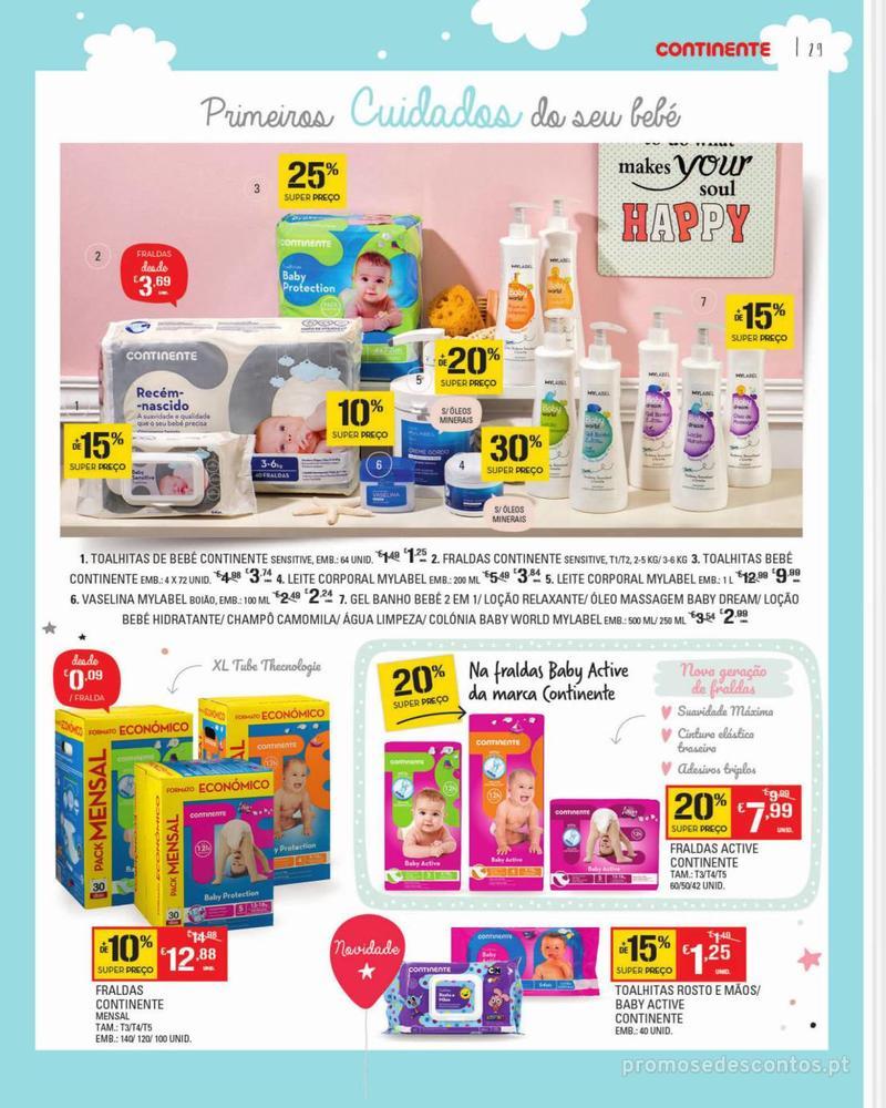 Folheto Continente Feira do Bebé - 7 de Janeiro a 28 de Janeiro - página 29