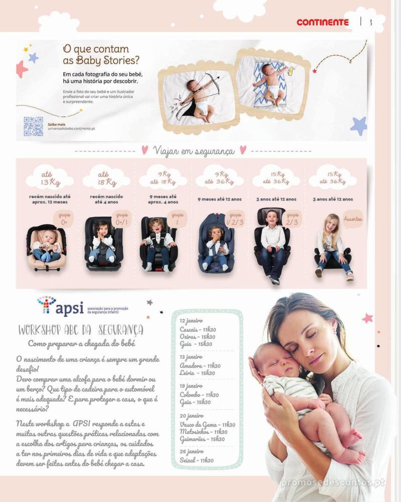 Folheto Continente Feira do Bebé - 7 de Janeiro a 28 de Janeiro - página 3