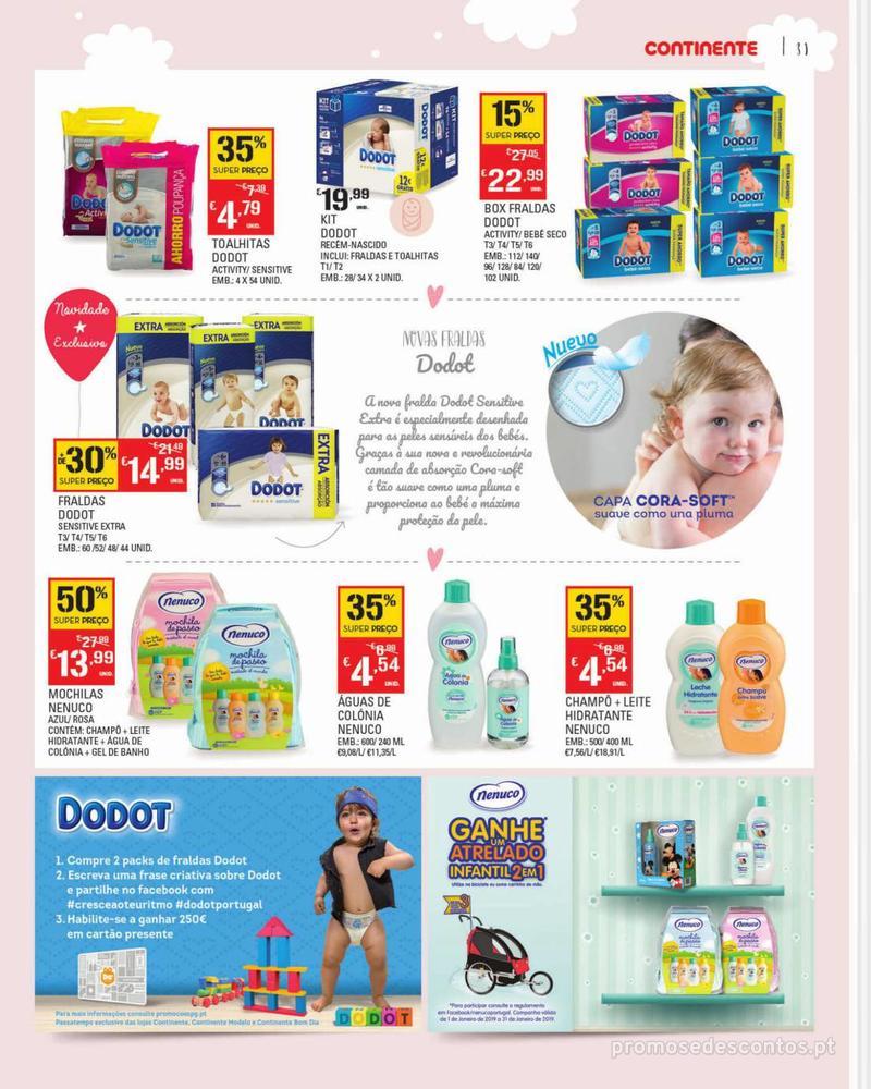 Folheto Continente Feira do Bebé - 7 de Janeiro a 28 de Janeiro - página 31
