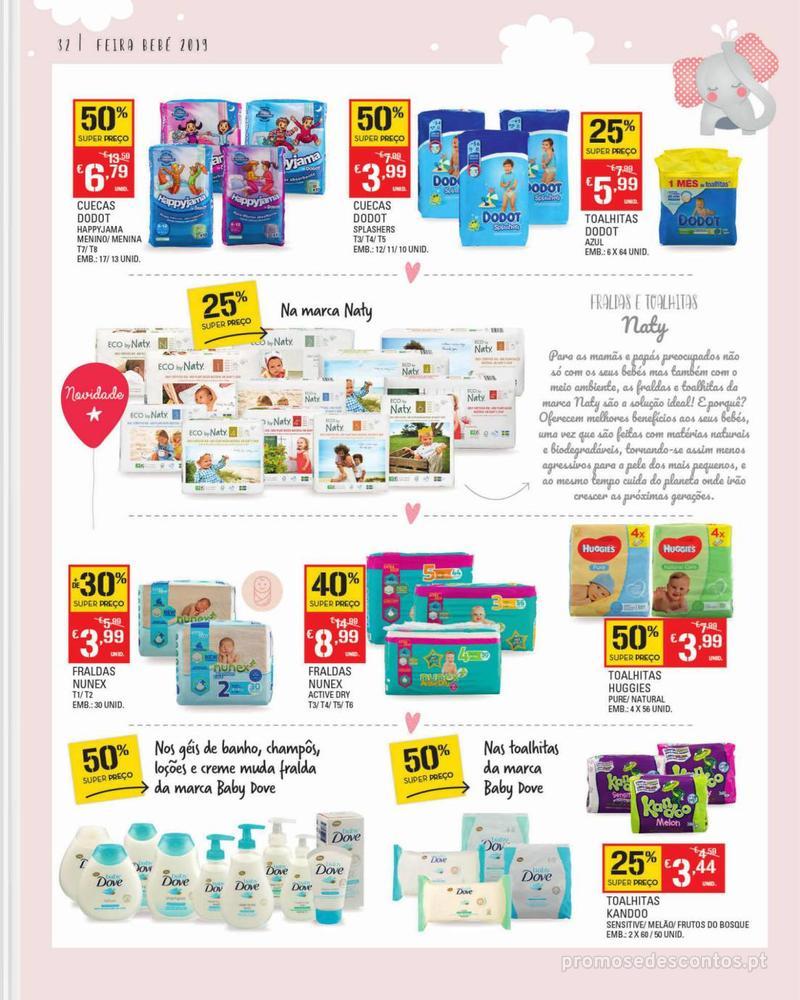 Folheto Continente Feira do Bebé - 7 de Janeiro a 28 de Janeiro - página 32