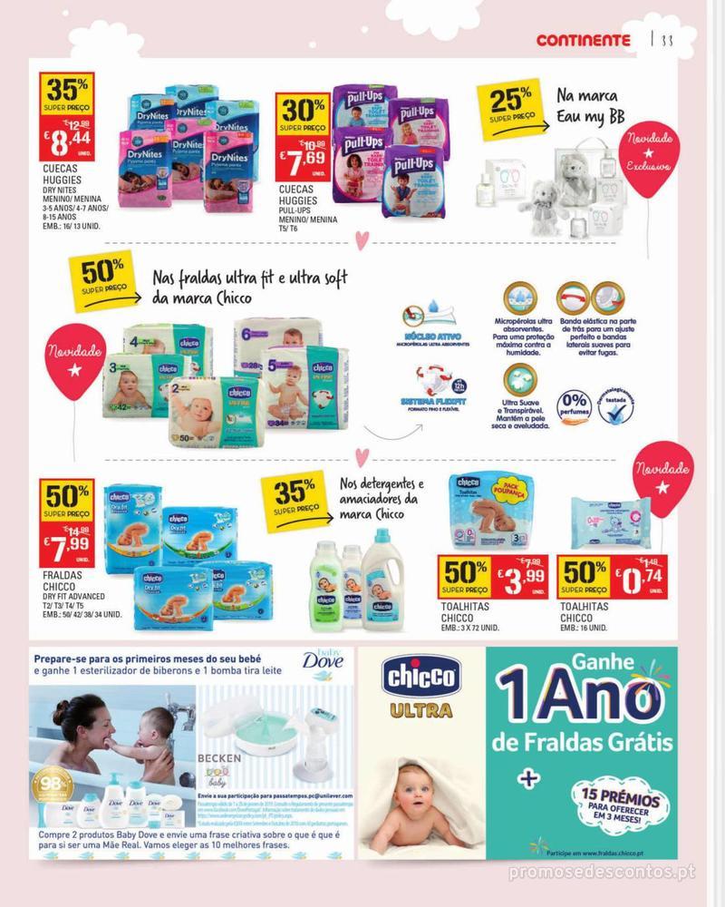 Folheto Continente Feira do Bebé - 7 de Janeiro a 28 de Janeiro - página 33