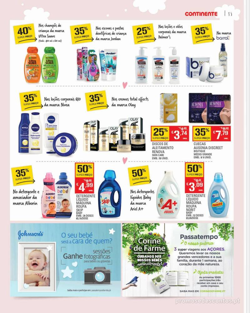 Folheto Continente Feira do Bebé - 7 de Janeiro a 28 de Janeiro - página 35