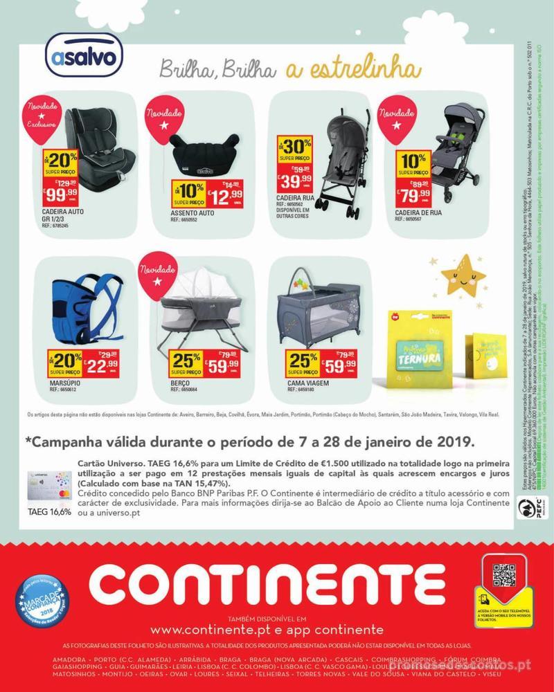 Folheto Continente Feira do Bebé - 7 de Janeiro a 28 de Janeiro - página 40