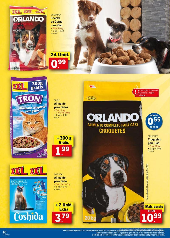 Folheto Lidl XXL a preços XXS - 7 de Janeiro a 13 de Janeiro - página 10