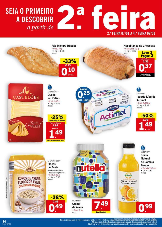 Folheto Lidl XXL a preços XXS - 7 de Janeiro a 13 de Janeiro - página 14