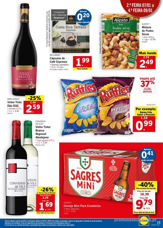 Folheto Lidl XXL a preços XXS - 7 de Janeiro a 13 de Janeiro - página 15