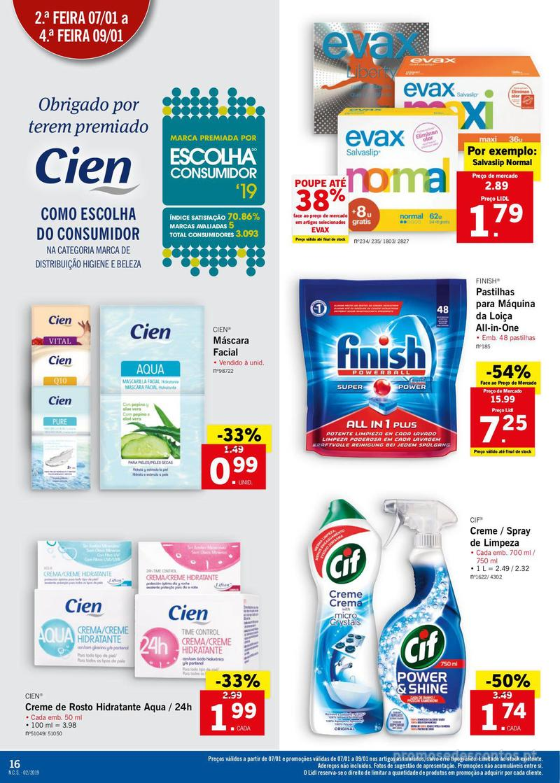 Folheto Lidl XXL a preços XXS - 7 de Janeiro a 13 de Janeiro - página 16