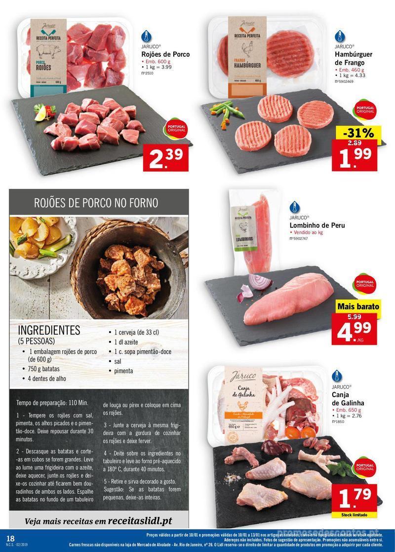 Folheto Lidl XXL a preços XXS - 7 de Janeiro a 13 de Janeiro - página 18