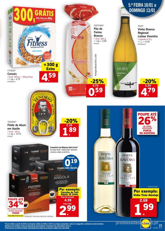 Folheto Lidl XXL a preços XXS - 7 de Janeiro a 13 de Janeiro - página 21