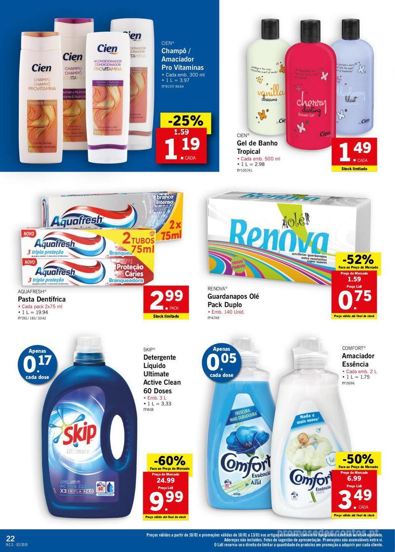 Folheto Lidl XXL a preços XXS - 7 de Janeiro a 13 de Janeiro - página 22