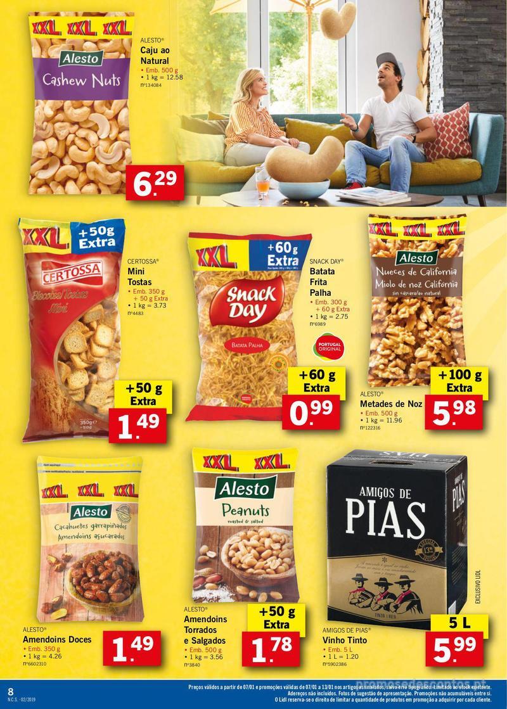 Folheto Lidl XXL a preços XXS - 7 de Janeiro a 13 de Janeiro - página 8