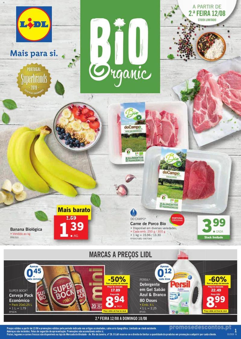 Folheto Lidl Bio Organic - 12 de Agosto a 18 de Agosto - página 1
