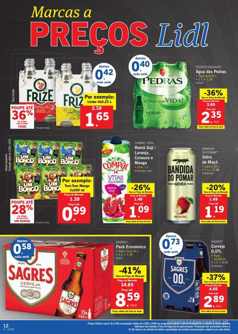Folheto Lidl Bio Organic - 12 de Agosto a 18 de Agosto - página 12