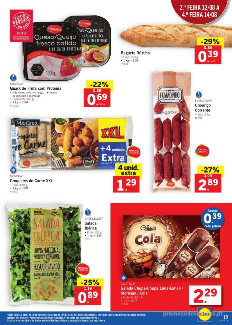 Folheto Lidl Bio Organic - 12 de Agosto a 18 de Agosto - página 19